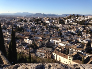 View from one of the towers of the Alhambra palace!